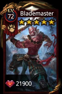Blademaster hero card