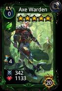 Axe Warden creature card