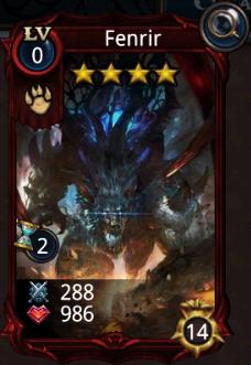 Fenrir creature card