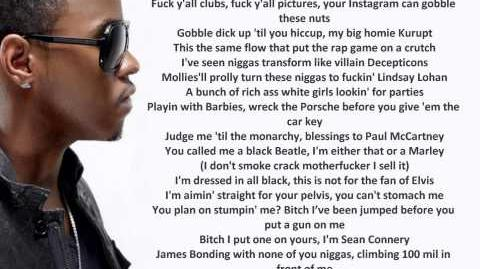 Big Sean - Control Feat Kendrick Lamar & Jay Electronica, Lyrics on Screen