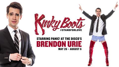 Panic! At The Disco's Brendon Urie Struts Into KINKY BOOTS