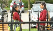 Alli Looking Concerned While Talking To A Girl From Her All Girls School