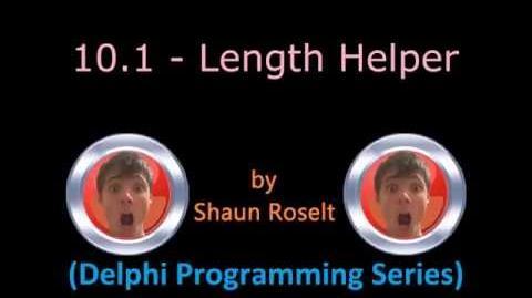 Delphi Programming Series 10.1 - Length Helper