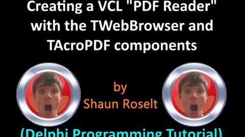 "Creating a VCL ""PDF Reader"" (Delphi Programming Tutorial)"