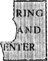 Ring and enter part sign