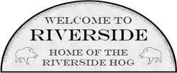 Riverside sign