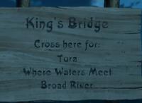 Kings Bridge Sign