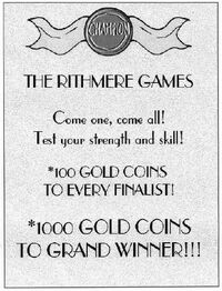 Rithmere games poster