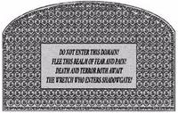 Shadowgate warning stone