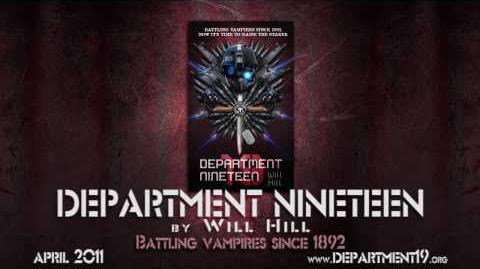 Department 19 by Will Hill book trailer video