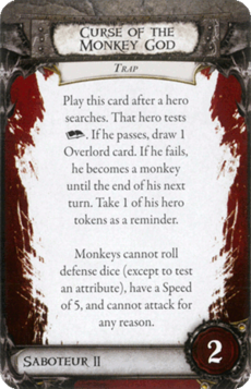Overlord Card - Curse of the Monkey God