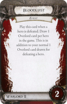 Overlord Card - Bloodlust