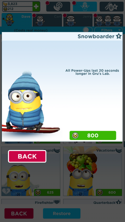 Snowboarderminion
