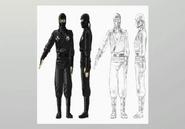 Black Ninja Concept Art