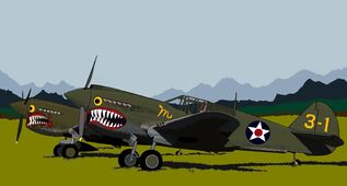 P-40s on Ceylon Mallory's in foreground