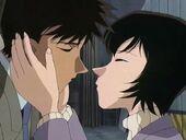 Takagi and Miwako about to kiss