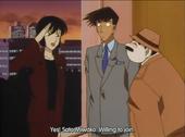 Inspector Megure and Miwako Sato
