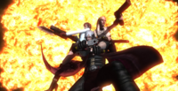 Dante, Lady, and Trish posing in the epiclogue (Devil May Cry 4)