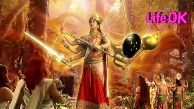 File:Eight-Armed Goddess Adishakti Spreading Her Flames of Wrath.png