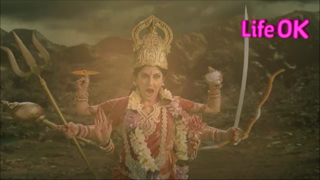 File:Eight-Armed Goddess Durga Roars Ferociously.png