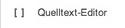 Quelltext Editor