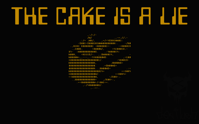 Datei:The Cake is a Lie wallpaper by DEVILUSHNINJA.png