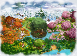 Pixie Hollow Fly Up Map