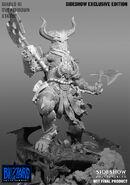 Helmed Barbarian Statue