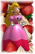 Peach with Strawberries