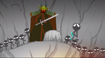 The ninja dying