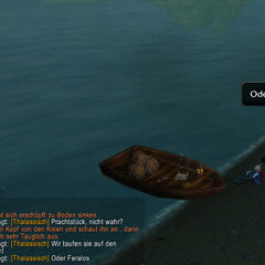 Und etwas Humor bei der Namensgebung bei der nebensächlichen Bootstaufe...