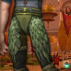 Grüne Drachenschuppengamaschen (K)