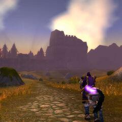 Ausblick zu dem alten Wall zwischen Arathi und dem Hügelland