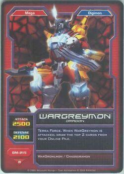 WarGreymon DM-215 (DC)