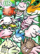 Koromon Chibimon Motimon Lopmon Terriermon Gigimon Tailmon Patamon Cutemon MarinAngemon Sleeping digimon re collectors card