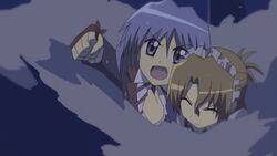 Hayate trying to save Maria from the boiler room
