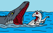 Indominus rex vs mosasaurus 2 by avispaneitor-d8zukxx