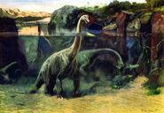 Brachiosaurus by zdenek burian 1941