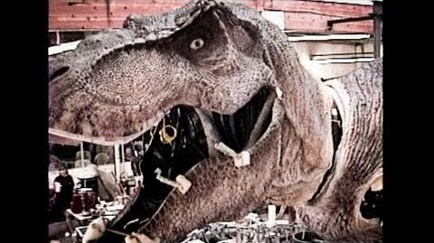 JURASSIC PARK - T-Rex - Skinning an Animatronic Dinosaur Part 1 - BEHIND-THE-SCENES