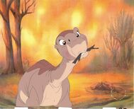 The Land Before Time Production Animation Cel Cell Little Foot! Laser BG Bluth