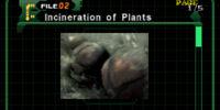 Incineration of Plants