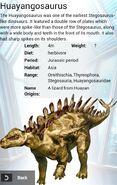 Huayangosaurus Album