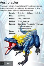 Album DNA Rare Austroraptor