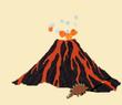Dino run volcano