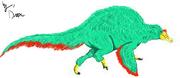 Feathered spinosaurus by spinozillarex-d7ajna5-1-