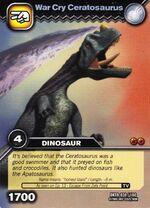 Ceratosaurus-War Cry TCG Card