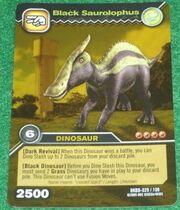 Saurolophus Black TCG Card (foreign)