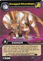 Diceratops-Enraged TCG Card (German)