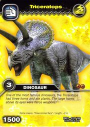 Triceratops TCG Card