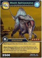 Spinosaurus Black TCG Card (foreign)